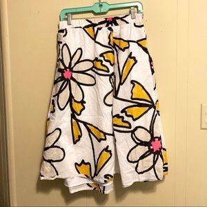 Lane Bryant White Floral Skirt 18/20 Plus Size